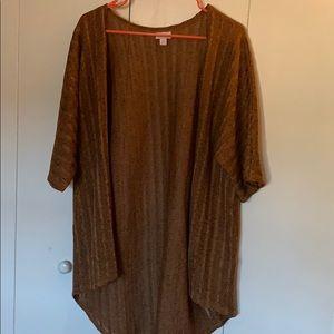 LAST CHANCE LulaRoe Brown Black Heathered Kimono